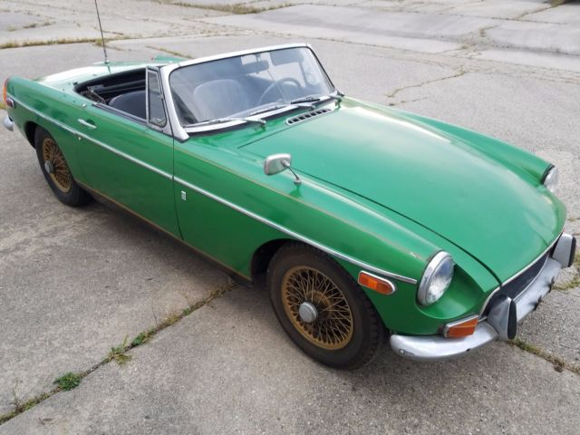 BARN FIND ** 1970 MG MGB Sport Roadster Convertible GT Wire Wheels ...
