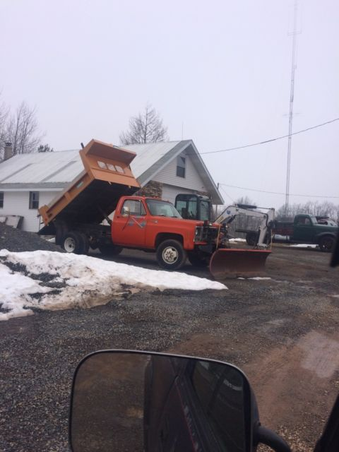 u0026 39 79 gmc 1 ton 4x4 dump truck with plow for sale in