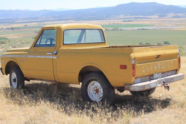 1 owner, all original, 1971 4x4 short wheel base chevy