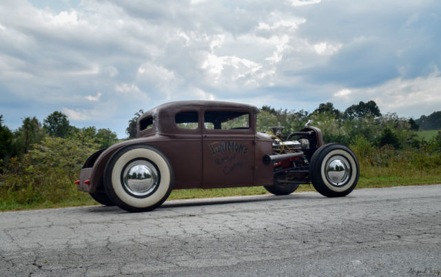 1931 ford model a hot rod patina rat street 5 window for 1931 ford 5 window coupe hot rod