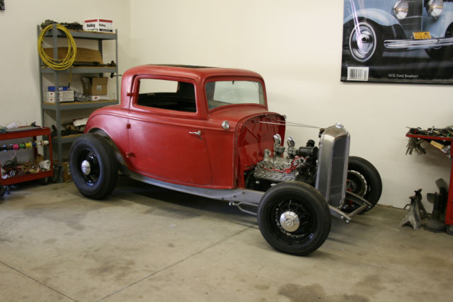 1932 Ford 3 Window Coupe Original Steel Body Hot Rod