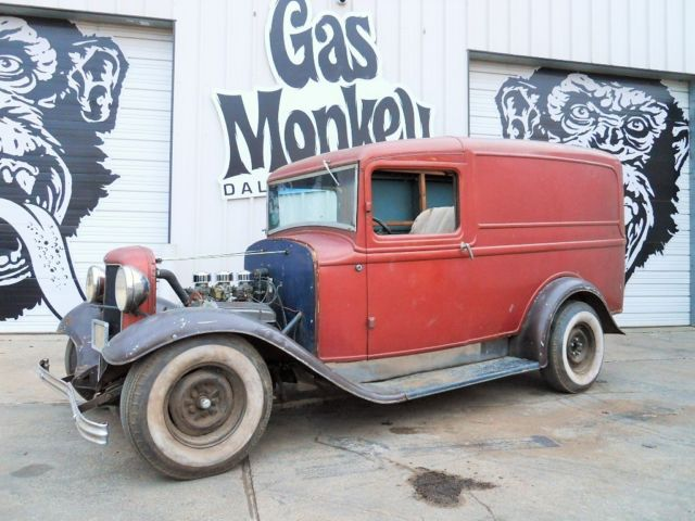 1933 ford panel truck running project no reserve from. Black Bedroom Furniture Sets. Home Design Ideas