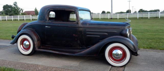 1934 chevy all steel 3 window coupe rat rod street rod cod for 1934 chevrolet 3 window coupe