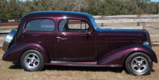 1936 chevy master sedan street rod new black cherry for 1936 chevy 4 door sedan