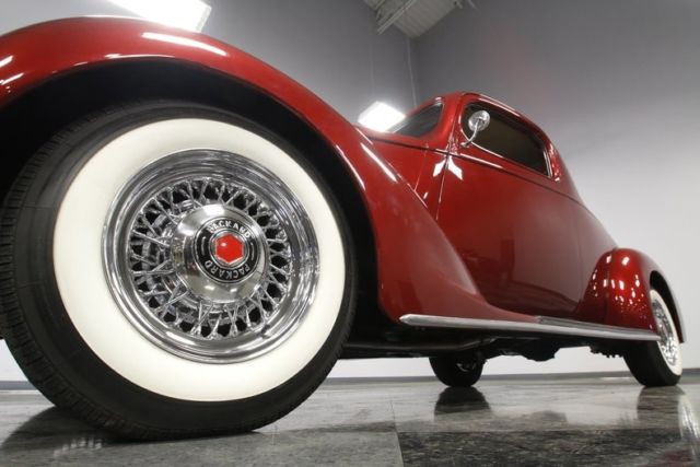 1937 Packard 115 Business Coupe Restomod 511 Miles Cardinal Red