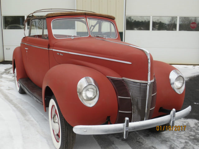 1940 Ford Convertible Project V8 1932 1934 Flathead Hot ...