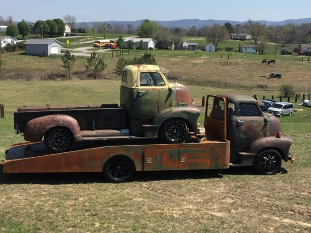 Chevrolet Diesel Pickup >> 1949 COE Chevrolet cab over engine rat rod hauler patina duramax 5 window wedge for sale in Pine ...