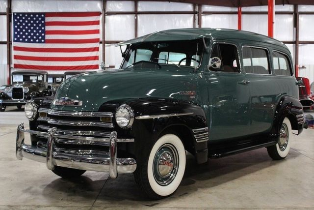 1950 chevrolet suburban 6942 miles green suv 6 cylinder. Black Bedroom Furniture Sets. Home Design Ideas