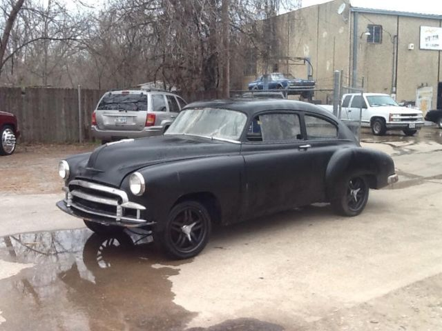 1950 CHEVY BELAIR FLEETLINE FASTBACK 350/AUTO RUNNING PROJECT for