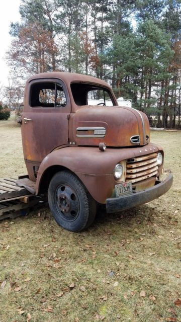 1950 Ford COE Cabover Truck Snub nose Project for sale in