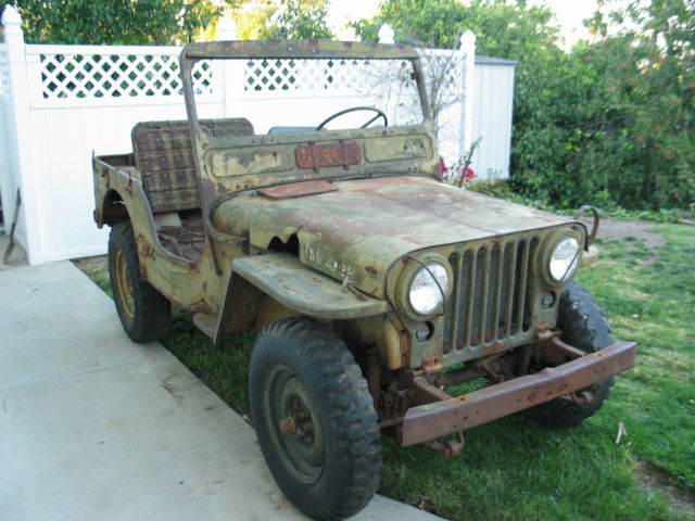 1952 Willys Jeep M38 Military Korean War Army Jeep for sale