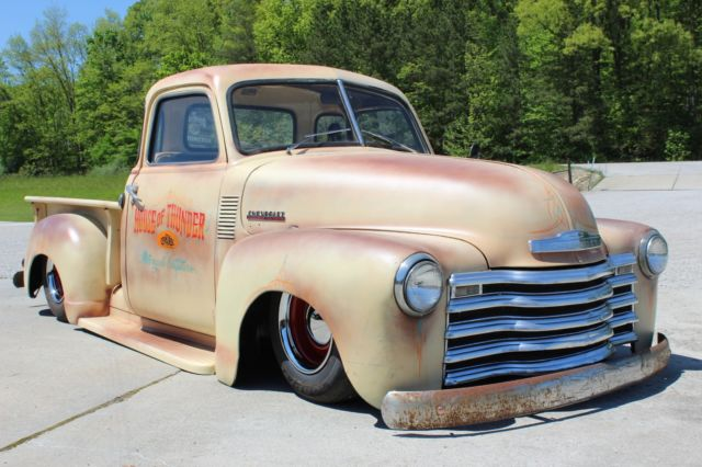 1952 chevrolet 3100 5 window rat rod bagged pickup for 1952 5 window chevy pickup for sale