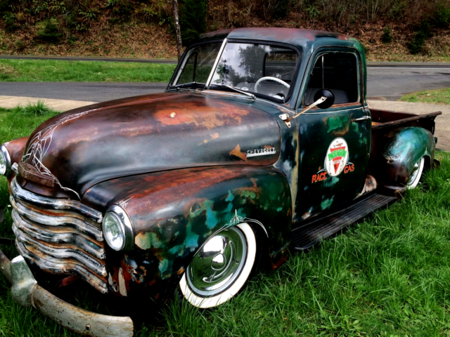 1952 Chevy Truck 3100 Air Ride Bagged Not C 10 Patina Rat Rod Hot Rod Lowrider For Sale In
