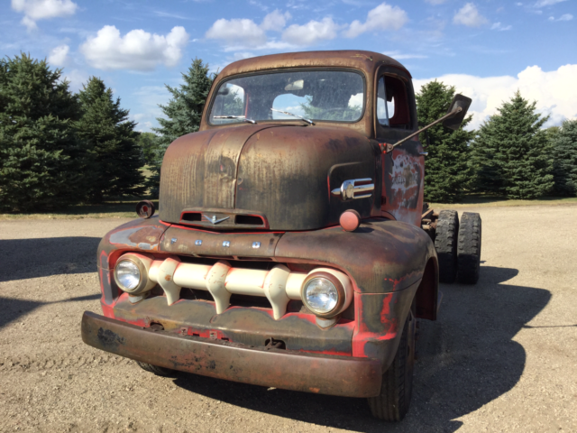 Rare Ford F Coe Cabover Hauler Pickup Truck Chevy