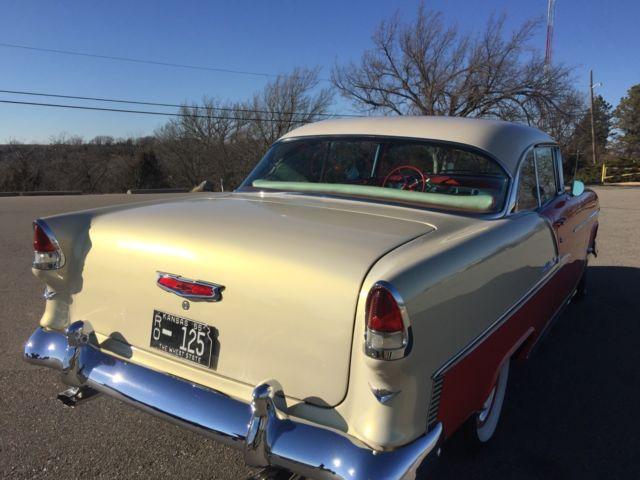 1955 2 door belair off frame restoration new motor for Kansas dept of motor vehicles phone number