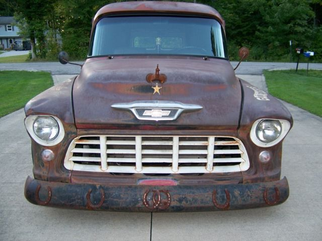 1955 Chevy 3800 Panel Truck Rusty Ranch For Sale In