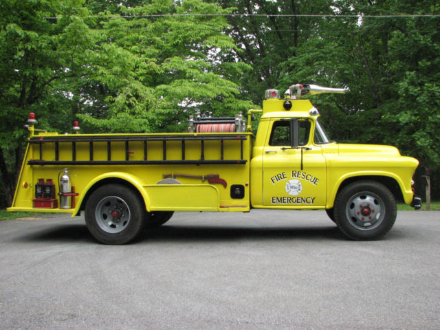 1956 Chevrolet Fire Truck Fully Restored From NYS Thruway