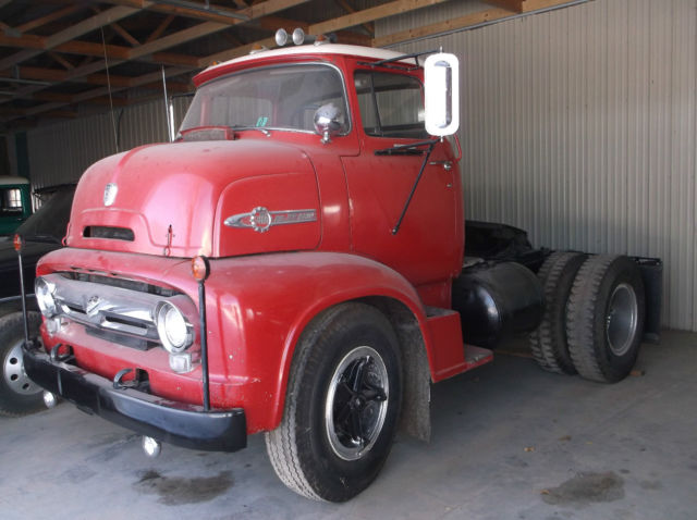 1956 Ford C800 Big Job Custom Cab Semi-Tractor w/only 71,000