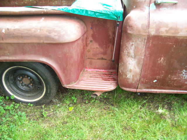 1956 Gmc Shortbed Deluxe Big Window Project Like Apache Factory V8
