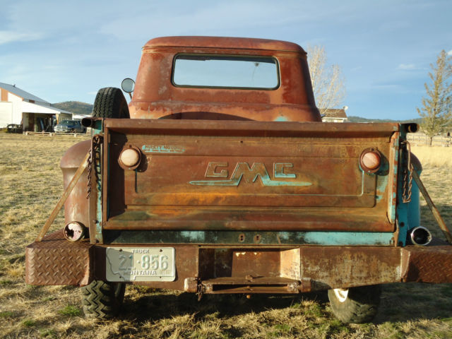1956 GMC task force 100 102 V8 Napco 4x4 western ranch survivor barn