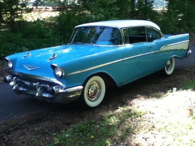 1957 Chevrolet Bel Air 2 Door Hard Top 283 Powerglide For Sale In