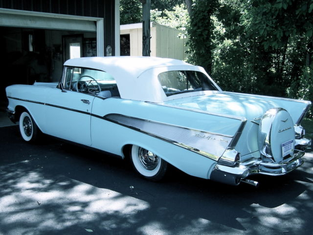 1957 Chevrolet Belair Convertible With Continental Kit For Sale In Jackson Michigan United States