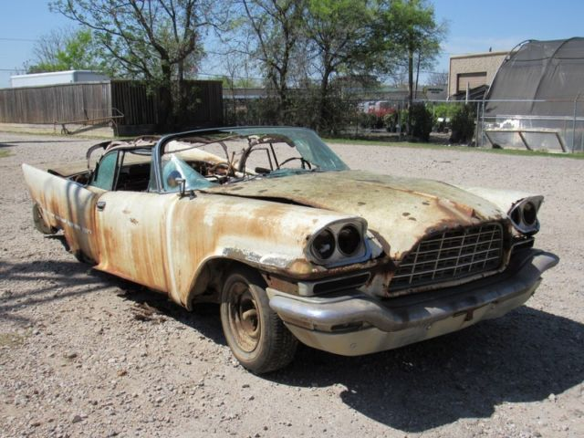 1957 chrysler 300c convertible project triple white hemi 2x4 for sale in dallas texas united. Black Bedroom Furniture Sets. Home Design Ideas