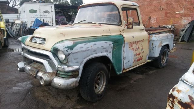 1957 Gmc 100 Pickup Big Back Window Patina Shoptruck