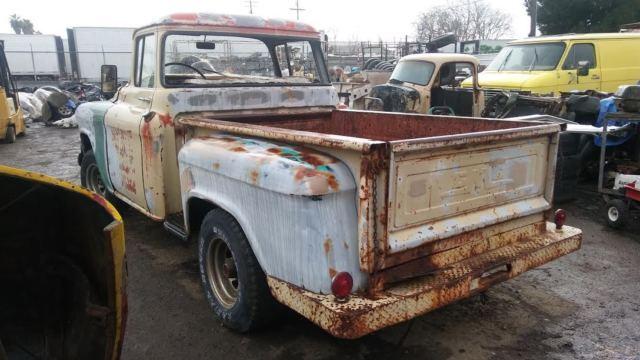 1957 gmc 100 pickup big back window patina shoptruck. Black Bedroom Furniture Sets. Home Design Ideas