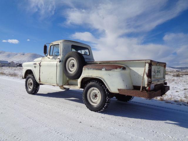 1958 GMC rare V8 NAPCO 4x4 original western high desert survivor