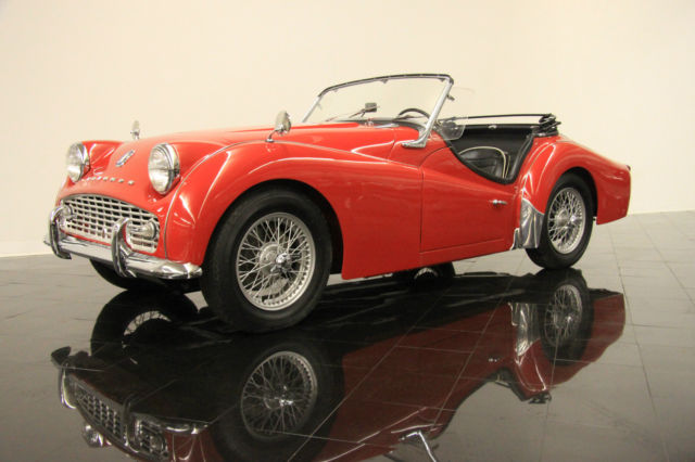 1960 Tr3a Roadster 4 Per Month Hardtop And Side Curtains Upgraded