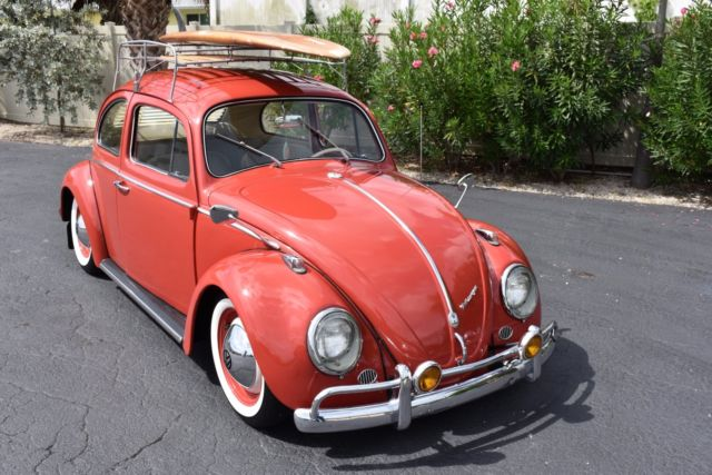 1960 volkswagen beetle super cool extremely well restored 0 red 2dr manual for sale in local. Black Bedroom Furniture Sets. Home Design Ideas