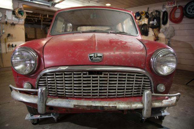 1962 austin mini super barn find super rare for Red barn motors austin tx