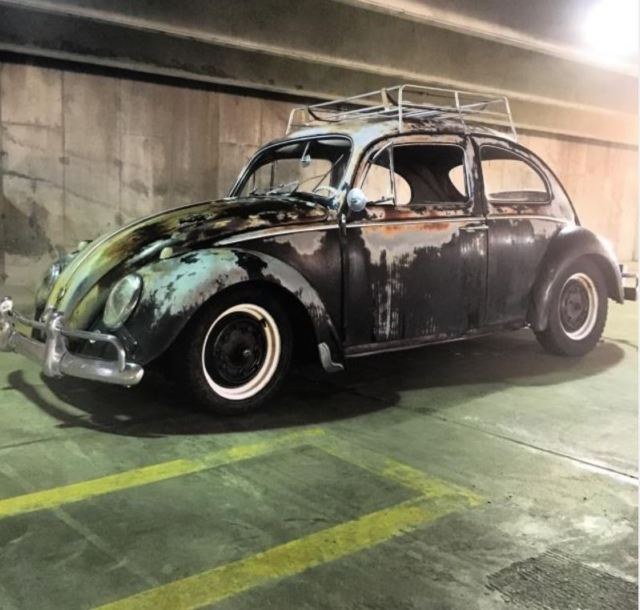 patina bug original paint black vw beetle volkswagen  sale  freeland michigan