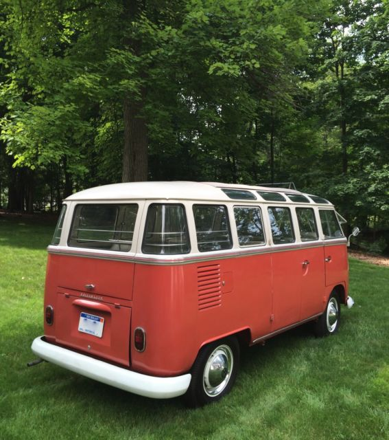1963 red white vw 23 window van for sale in united states for 1963 vw bus 23 window