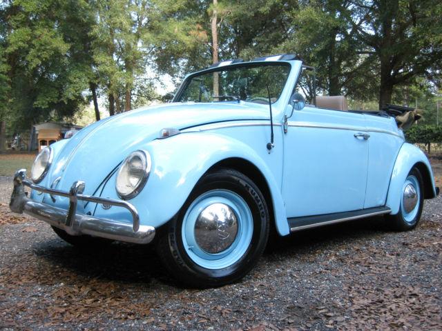 1963 Volkswagen Convertible VW Beetle Bug Barn Garage Find