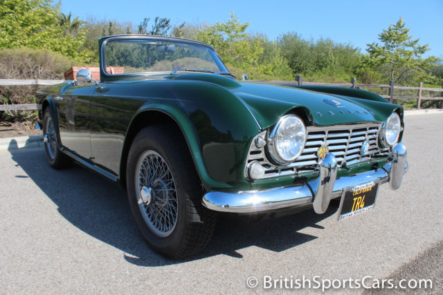 1964 Triumph TR4 Fully Restored In BRG California Car for