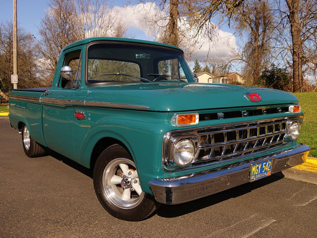 1965 Ford F100 Holly Green 302 V8 C4 Auto Ps Pdb For Sale