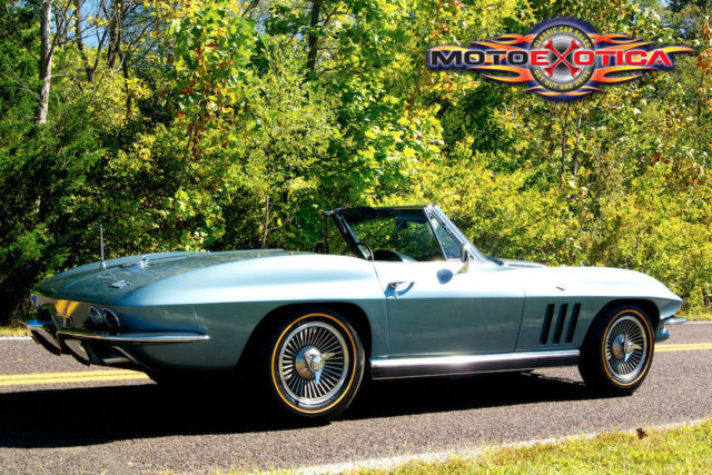 1966 Chevrolet Corvette Convertible,Desirable Trophy Blue