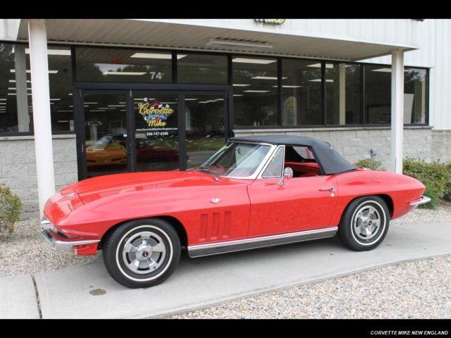 1966 Chevrolet Corvette Stingray Convertible 4 Speed Manual