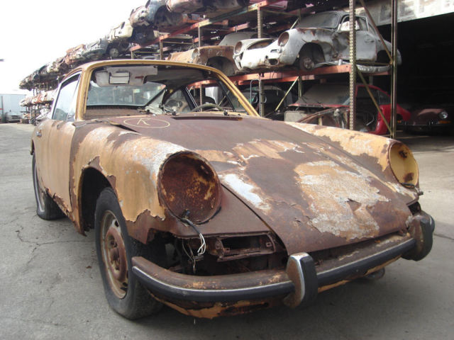 1966 porsche 911 coupe production year 1965 project car for restoration for sale in los angeles. Black Bedroom Furniture Sets. Home Design Ideas
