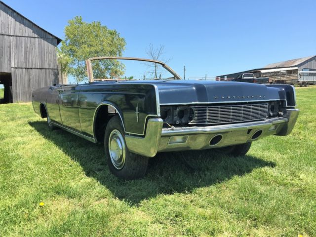 1967 lincoln continental convertible barn find ford rat rod cruiser rag top l k for sale in. Black Bedroom Furniture Sets. Home Design Ideas