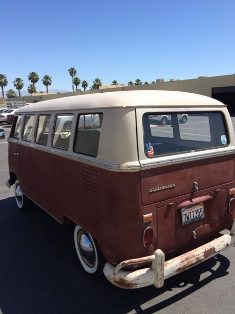 1967 vw bus split window walk through 13 window volkswagen desert find for sale in palm springs. Black Bedroom Furniture Sets. Home Design Ideas