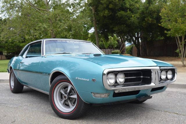 1968 pontiac firebird 400 4 bbl car custom ac numbers matching one owner car for sale in san. Black Bedroom Furniture Sets. Home Design Ideas