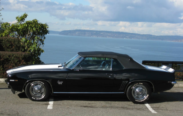 1969 Chevrolet Camaro Black Pro-touring added SS RS Convertible 69