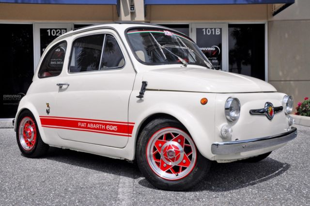 1969 fiat 500 abarth 695 abarth 695 esse esse 0 white coupe manual for sale in west palm beach. Black Bedroom Furniture Sets. Home Design Ideas
