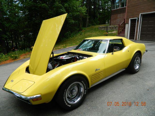 1970 Corvette Stingray Coupe Daytona Yellow 58 785