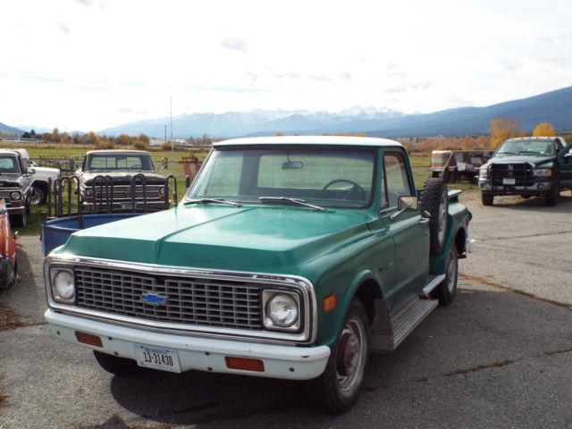 1971 chevrolet c10 stepside lwb survivor montana ranch truck for sale in hamilton montana. Black Bedroom Furniture Sets. Home Design Ideas