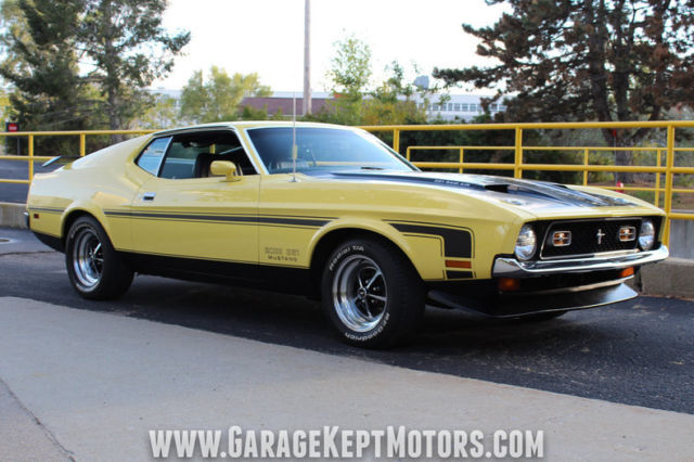 1971 Ford Mustang Boss 351 Grabber Yellow Fastback 351 V8
