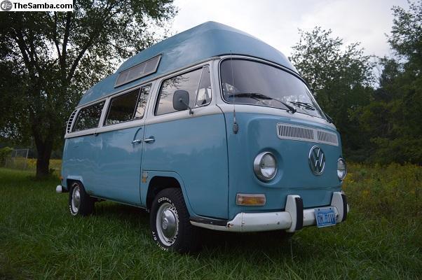 1971 Vw Bus Camper California High Top Adventurewagen Watch Video